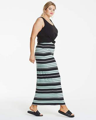 Fashion World Stripe Stretch Jersey Maxi Tube Skirt