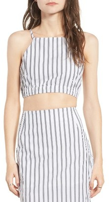 Women's Obey Chambers Stripe Crop Top $39 thestylecure.com