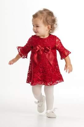 Biscotti Flounce Sleeve Dress