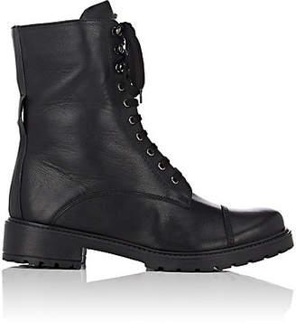 FiveSeventyFive Women's Stud-Embellished Leather Combat Boots - Black