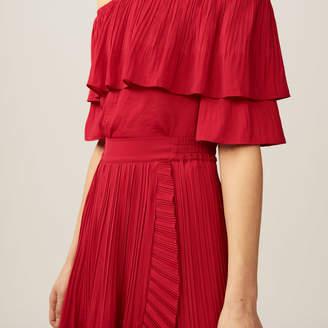 Maje Pleated maxi wrap skirt