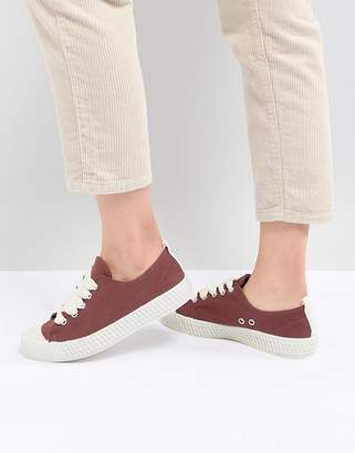 Pull&Bear baseball sneaker in red (join life)