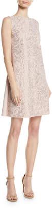 Chiara Boni Esen Sleeveless Dress w/ Demi-Mosaic Sequins