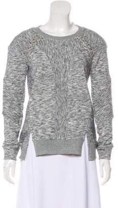 Rebecca Taylor Crew Neck Textured Sweatshirt