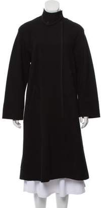 Donna Karan Wool Long Coat Black Wool Long Coat
