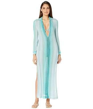 Missoni Mare Stretch Knit Lame Sfumata Cover-Up Dress