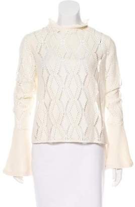 See by Chloe Long Sleeve Open Knit Sweater