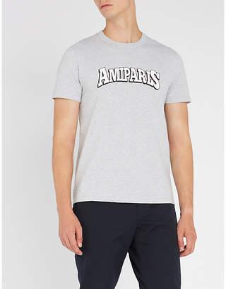 Ami Alexandre Mattiussi Logo-print cotton-jersey T-shirt