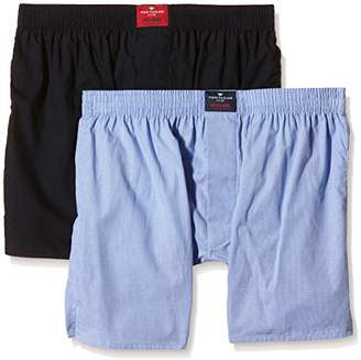 Tom Tailor Men's Plain Boxers Blue Blau (Light Blue-Navy 6614)