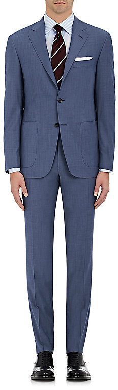 CanaliCanali Men's Kei Wool Two-Button Suit-Blue