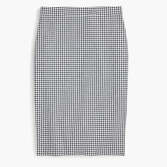 J.Crew No. 2 pencil skirt in gingham seersucker