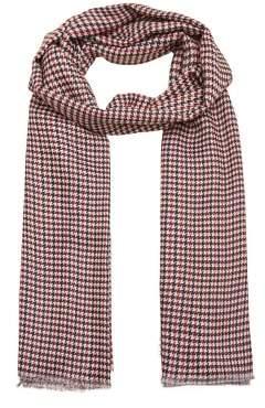 MANGO Houndstooth scarf