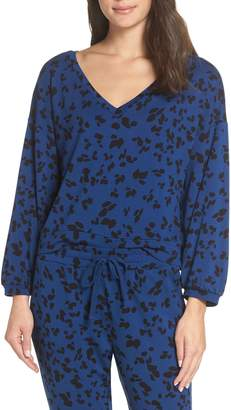 BB Dakota Sensing a Pattern Leopard Print Pajama Top