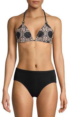 Derek Lam 10 Crosby Reversible Printed Bikini Top