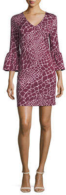 Julie Brown Gracen Grid-Print Dress