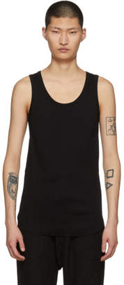 SASQUATCHfabrix. Black Rib Stitch Tank Top