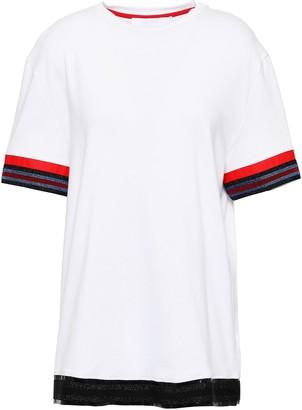 NO KA 'OI His Metallic Stripe-trimmed Cotton-jersey T-shirt