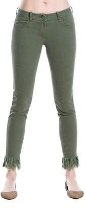Max Studio frayed-hem skinny jeans