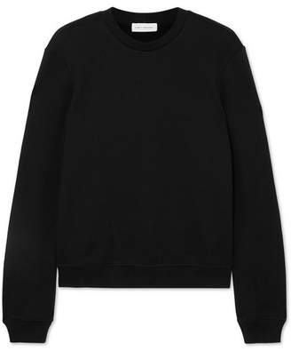 Ninety Percent Stephanie Organic Cotton-jersey Sweatshirt - Black