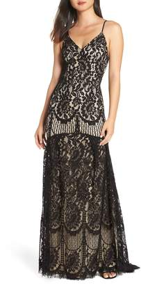 LuLu*s Flynn Lace Gown with Train