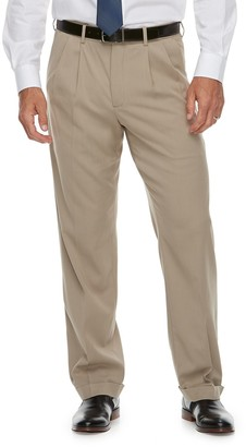 Croft & Barrow Men's Classic-Fit No-Iron Stretch Pleated Dress Pants