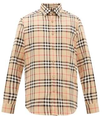 Burberry Vintage Check Cotton Flannel Shirt - Mens - Beige
