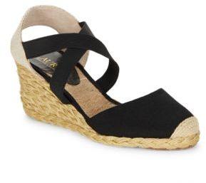 Lauren Ralph Lauren Casandra Espadrille Wedge Sandals $69 thestylecure.com