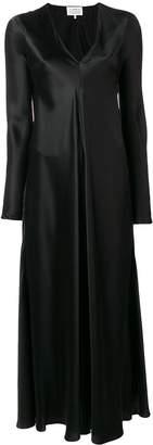 Maison Margiela silk V-neck gown