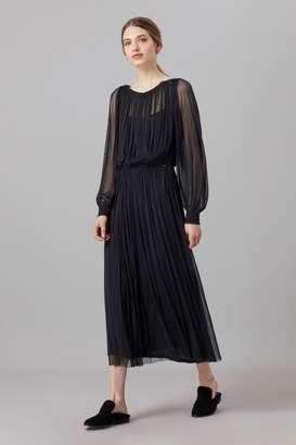 Amanda Wakeley Charcoal Tulle Marta Midi Dress