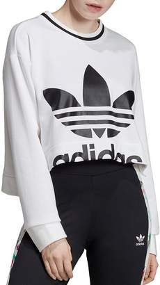 adidas Trefoil High/Low Cropped Sweatshirt