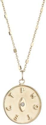 Jennifer Zeuner Jewelry Tal 14K Yellow Goldplated & Diamond Eye Medallion Necklace