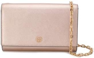 Tory Burch Robinson metallic chain wallet