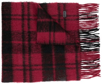 Saint Laurent check pattern scarf