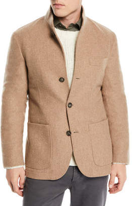 Brunello Cucinelli Men's Cashmere Patch-Pocket Jacket
