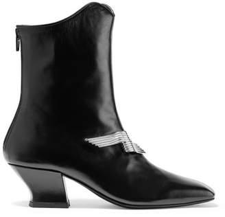 DORATEYMUR - Han Embellished Leather Ankle Boots - Black