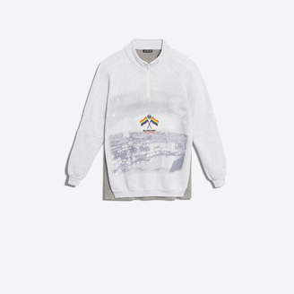 Balenciaga Brushed fleece and jersey double sweatshirt