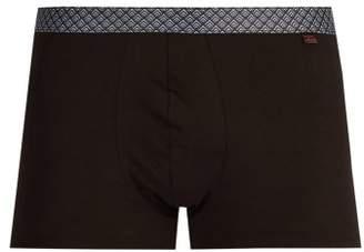 Derek Rose - Band 38 Pima Cotton Blend Boxer Trunks - Mens - Black