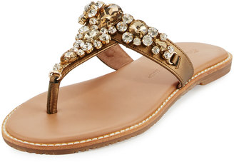 Tommy Bahama Yuri Crystal Thong Sandal, Bronze $109 thestylecure.com