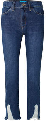 MiH Jeans Cult Distressed Mid-rise Straight-leg Jeans - Mid denim