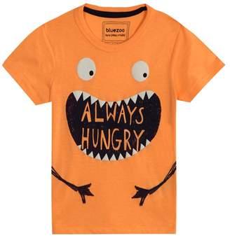 Bluezoo BLUE ZOO Boys' Orange 'Always Hungry' Monster Print T-Shirt