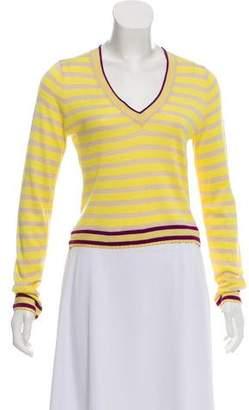 Magaschoni Silk-Blend Striped Sweater