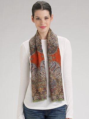 Etro Wool/Silk Calcutta Scarf