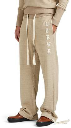 Loewe Men's Logo-Patch Cotton French Terry Jogger Pants