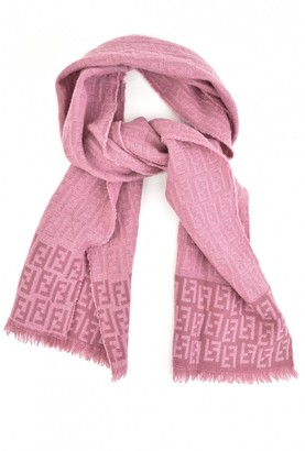 Fendi Pink Wool Scarves
