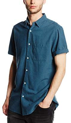 New Look Men's Paxman Texture Short Sleeve Regular Fit Casual Shirt