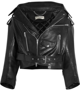 Balenciaga - Swing Leather Biker Jacket - Black $3,350 thestylecure.com