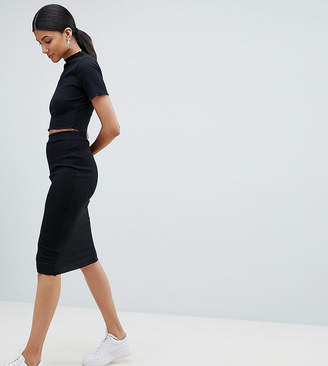 Missguided Tall Ribbed Midi Skirt