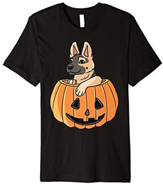 Halloween Costume Cute German Shepherd Pumpkin Shirt