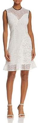 Whistles Cassie Mixed-Lace Dress