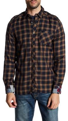 Gilded Age Franklin Plaid Print Tapered Fit Shirt